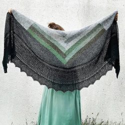 A kind of blue | driehoek shawl pakket