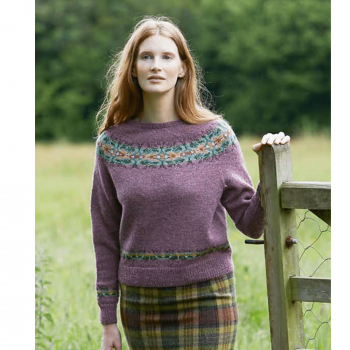 jamieson s of shetland thistle kit in jamieson s spindrift from marie wallin s meadow book 13078679519364